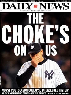 Yanks Pull Off Biggest Choke in Baseball History!