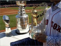 NFL, NHL, NBA and MLB Championship Trophies