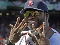 Big Papi shows off some big rings