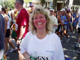 Lori at 2006 Falmouth Road Race