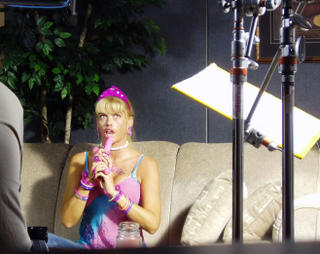 Anna Nicole and her little pink friend