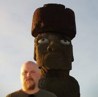 AF and Moai on Easter Island