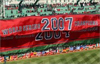 Championship Banner Unfurls at Fenway